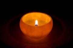 Pomarańczowa świeczka Zdjęcia Stock