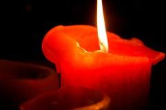Pomarańczowa świeczka Fotografia Stock