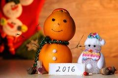 Pomarańczowa bałwan zabawka Obrazy Stock