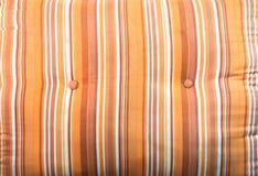 Pomarańczowa bawełniana poduszki tekstura Zdjęcie Stock