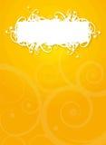 Pomarańczowa Biała rocznik ulotka Zdjęcie Royalty Free