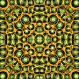 Pomarańczowa czarnych i zielonych okregów tła wektoru Piękna abstrakcjonistyczna ilustracja Obraz Royalty Free