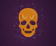 pomarańczowa czaszka Zdjęcie Royalty Free
