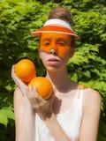 Pomarańczowa dama Obrazy Royalty Free