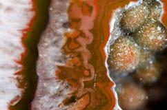 Pomarańczowa geoda Makro- zdjęcie royalty free