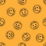 Pomarańczowa Halloween bania z czarnym backlit deseniowym tłem Halloweenowa dyniowa twarz dla świętowanie szczęśliwego wakacje fotografia stock
