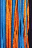 Pomarańczowa i błękitna siatka Obraz Royalty Free