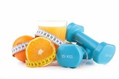 Pomarańczowa i pomiarowa taśma Fotografia Stock
