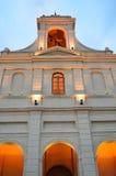 Pomarańczowa kościelna fasada Zdjęcia Royalty Free