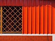 Pomarańczowa kolor ściana Obrazy Stock