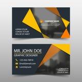 Pomarańczowa korporacyjna wizytówka, imię karty szablon, horyzontalny prosty czysty układu projekta szablon, Biznesowy sztandaru  ilustracji