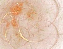 Pomarańczowa kreatywnie abstrakcjonistyczna ilustracja Łaciasty halftone skutek Wektorowa klamerki sztuka Obraz Stock