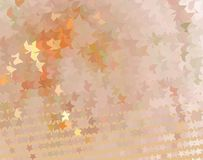 Pomarańczowa kreatywnie abstrakcjonistyczna ilustracja z gwiazdami Łaciasty halftone skutek Wektorowa klamerki sztuka Fotografia Stock