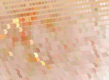 Pomarańczowa kreatywnie abstrakcjonistyczna ilustracja z okręgami Łaciasty halftone skutek Wektorowa klamerki sztuka Zdjęcie Royalty Free