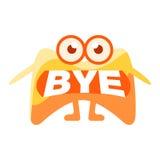 Pomarańczowa kropla Mówi walkower, Śliczny Emoji charakter Z słowem W usta Zamiast zębów, Emoticon wiadomość ilustracja wektor