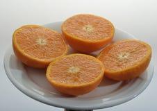 Pomarańczowa mandarynka obrazy royalty free