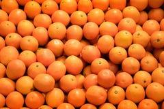 pomarańczowa mandarynka w rynku obraz stock