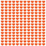 Pomarańczowa miłości pocztówka Zdjęcie Royalty Free