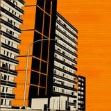 Pomarańczowa Miastowa miasto ulica Zdjęcie Royalty Free