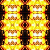 Pomarańczowa Nowożytna Ikat Plemienna Bezszwowa Deseniowa sieć fotografia royalty free