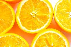 Pomarańczowa odgórnego widoku Zupełna powierzchnia Obraz Royalty Free