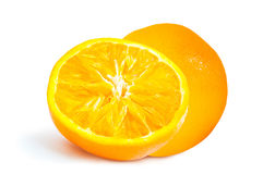 Pomarańczowa odgórnego widoku Zupełna powierzchnia fotografia stock