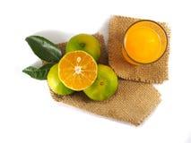 Pomarańczowa owoc odgórny widok, biały tło Zdjęcie Stock