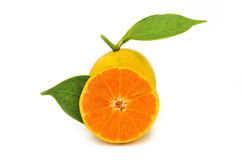 Pomarańczowa owoc odizolowywa na białym tle Obrazy Royalty Free
