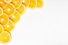 Pomarańczowa owoc w sekci w białej wodzie Zdjęcie Royalty Free