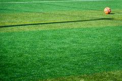 Pomarańczowa piłki nożnej piłka Zdjęcie Stock