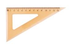Pomarańczowa plastikowa trójboka centymetra władca Zdjęcie Stock