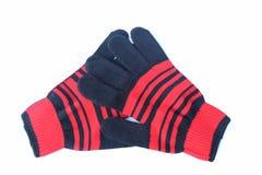 Pomarańczowa rękawiczka umieszczająca na białym tle zdjęcie royalty free