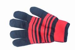 Pomarańczowa rękawiczka umieszczająca na białym tle obraz royalty free