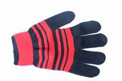 Pomarańczowa rękawiczka umieszczająca na białym tle fotografia royalty free
