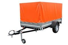 Pomarańczowa samochodowa przyczepa obraz royalty free