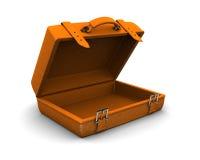 pomarańczowa skrzynka podróż Zdjęcia Royalty Free
