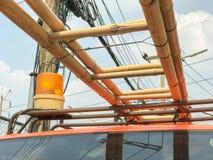 Pomarańczowa syrena przeciwawaryjna ciężarówka obraz royalty free