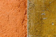 pomarańczowa tekstury ściany Zdjęcia Stock