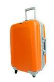 Pomarańczowa walizka Zdjęcia Royalty Free