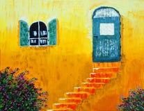 pomarańczowe ściany Obrazy Royalty Free