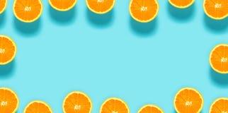 pomarańczowe świeże połówki obraz royalty free