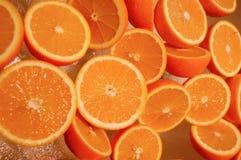 pomarańczowe świeże połówki Fotografia Stock