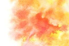 Pomarańczowe akwareli plamy ilustracji