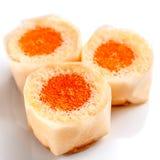 Pomarańczowe babeczki na białym tle Zdjęcie Royalty Free