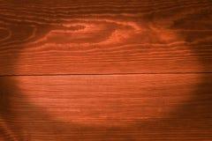 Pomarańczowe deski, tło z winietą Obrazy Royalty Free