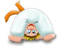 pomarańczowe dziecko ilustracja wektor