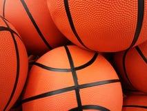 Pomarańczowe koszykówek piłki Fotografia Stock