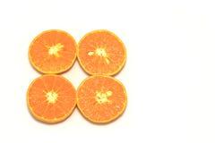 Pomarańczowe mandarynki lub tangerine owoc, odizolowywają na białym tle zdjęcia stock