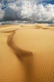 Pomarańczowe miękkie piasek diuny Zdjęcia Stock