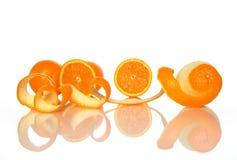 pomarańczowe pomarańcze strugają smakowitego Fotografia Royalty Free
